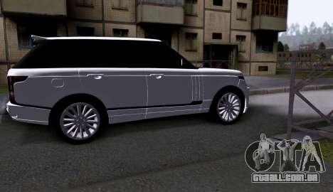 Land Rover Range Rover Startech para GTA San Andreas traseira esquerda vista