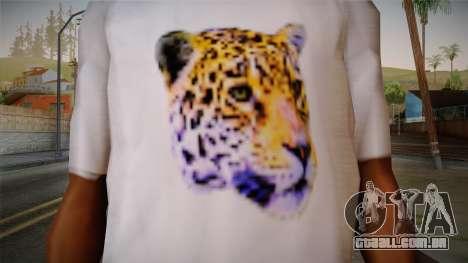 Leopard Shirt White para GTA San Andreas terceira tela