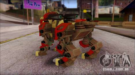 Liger Zero Zoids para GTA San Andreas segunda tela