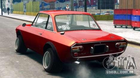 Lancia Fulvia HF para GTA 4 esquerda vista