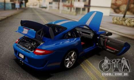 Porsche 911 GT3 RS4.0 2011 para GTA San Andreas vista inferior