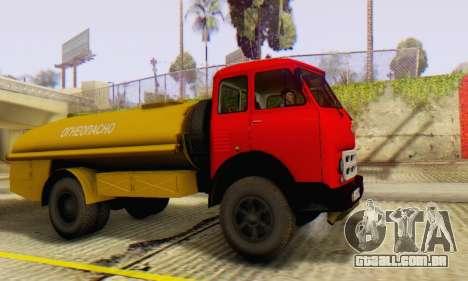 MAZ 500A Bowser para GTA San Andreas vista direita
