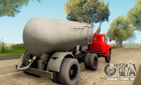 Reboque de cimento transportadora TTC 26 para GTA San Andreas esquerda vista