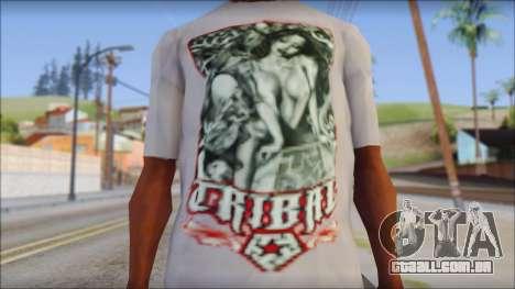 Tribal tee Mouse Inked White T-Shirt para GTA San Andreas terceira tela