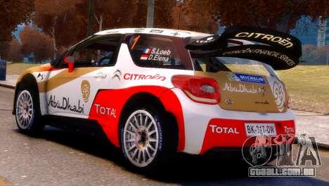 Citroen DS3 WRC para GTA 4 esquerda vista