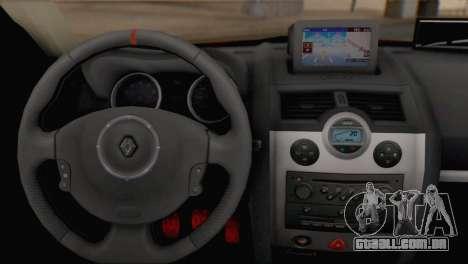 Renault Megane II HatchBack para GTA San Andreas traseira esquerda vista