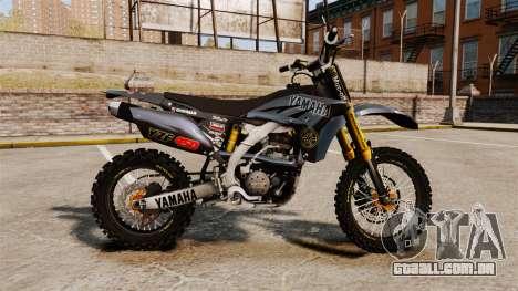 Yamaha YZF-450 v1.2 para GTA 4 esquerda vista