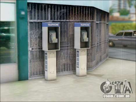 Rua telefone para GTA San Andreas por diante tela