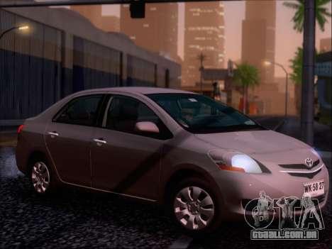 Toyota Yaris 2008 Sedan para o motor de GTA San Andreas