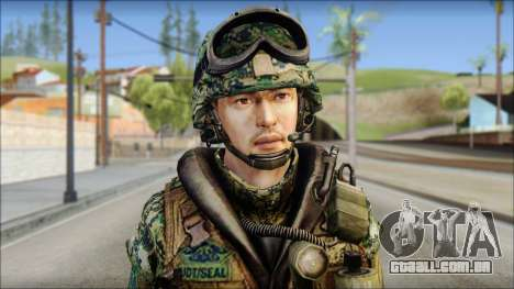 Forest UDT-SEAL ROK MC from Soldier Front 2 para GTA San Andreas terceira tela
