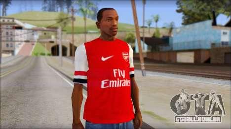 Arsenal 2013 T-Shirt para GTA San Andreas