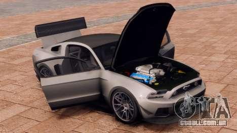 Ford Mustang GT 2014 Custom Kit para GTA 4 vista de volta