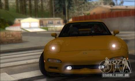 Mazda RX-7 1991 para GTA San Andreas traseira esquerda vista