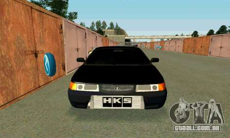 VAZ 21123 Turbo para GTA San Andreas vista traseira
