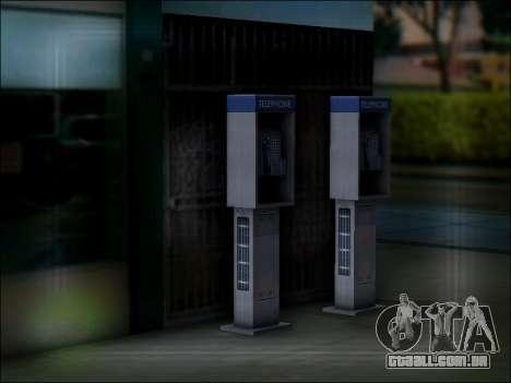 Rua telefone para GTA San Andreas quinto tela