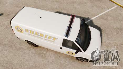Vapid Speedo Los Santos County Sheriff [ELS] para GTA 4 vista direita