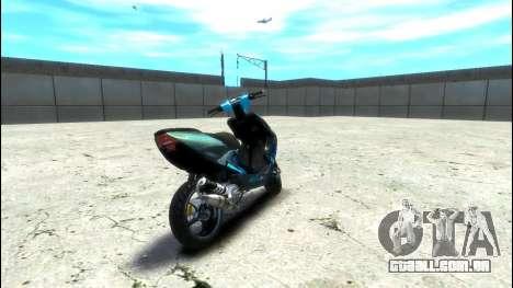 Yamaha Aero X Polini para GTA 4 traseira esquerda vista