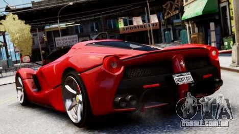 Ferrari LaFerrari Spider para GTA 4 esquerda vista