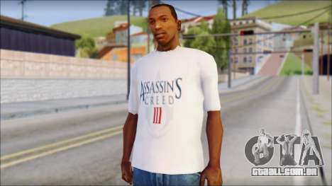 Assassins Creed 3 Fan T-Shirt para GTA San Andreas