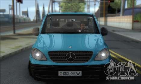 Mercedes-Benz 115 CDI Vito 2007 Stance para GTA San Andreas vista traseira