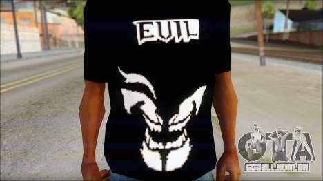 Evil T-Shirt para GTA San Andreas terceira tela