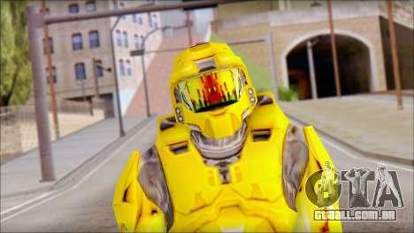 Masterchief Yellow from Halo para GTA San Andreas terceira tela