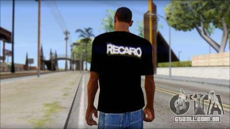 Recaro T-Shirt para GTA San Andreas segunda tela