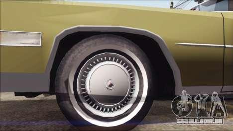 Cadillac Eldorado Stock para GTA San Andreas vista direita