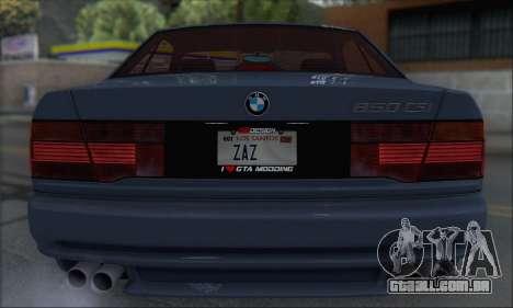 BMW E31 850CSi 1996 para GTA San Andreas vista direita