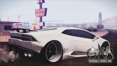 Lamborghini Huracan Liberty Walk para GTA San Andreas esquerda vista