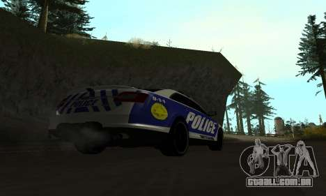 Ford Taurus HSO Police para GTA San Andreas esquerda vista