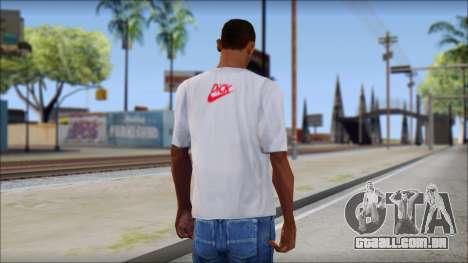 N1KE Head T-Shirt para GTA San Andreas segunda tela