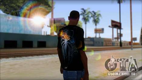 Spiderman 3 T-Shirt para GTA San Andreas segunda tela