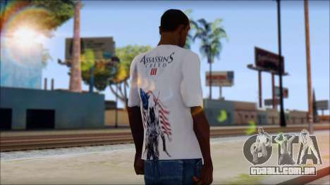 Assassins Creed 3 Fan T-Shirt para GTA San Andreas segunda tela