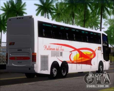 Busscar Jum Buss 400 Volvo B10R Pullman Del Sur para GTA San Andreas traseira esquerda vista