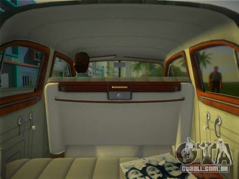 Packard Standard Eight Touring Sedan 1948 para GTA Vice City vista traseira