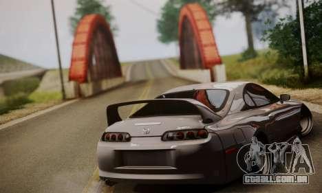 Toyota Supra Stock para GTA San Andreas esquerda vista