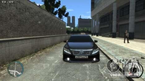 Toyota Camry 2013 para GTA 4 vista direita