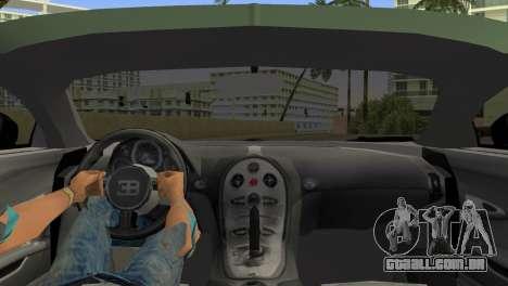 Bugatti Veyron para GTA Vice City vista traseira esquerda