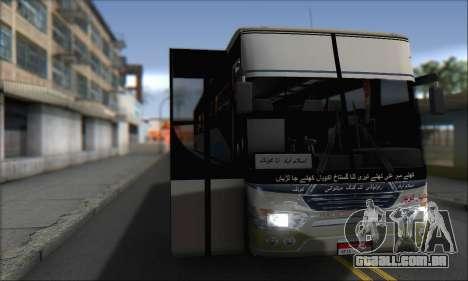 Sada Bahar Coach para GTA San Andreas traseira esquerda vista