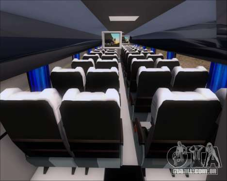 Busscar Vissta Buss LO Mercedes Benz 0-500RS para GTA San Andreas vista interior