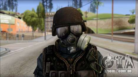 Tactical GIGN from Soldier Front 2 para GTA San Andreas terceira tela