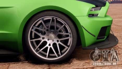 Ford Mustang GT 2014 Custom Kit para GTA 4 traseira esquerda vista