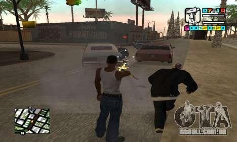 New HUD by Ptaxa1999 para GTA San Andreas por diante tela