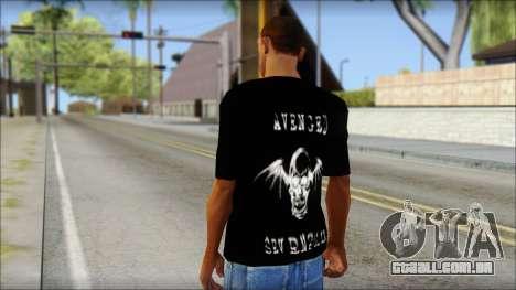 A7X Waking The Fallen Fan T-Shirt para GTA San Andreas segunda tela