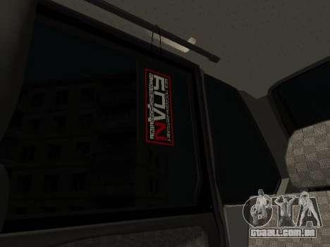 VAZ 2114 para GTA San Andreas vista superior