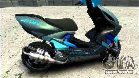 Yamaha Aero X Polini para GTA 4 esquerda vista
