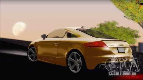 Audi TT RS v2 2011 para GTA San Andreas esquerda vista