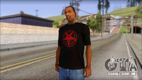 Red Pentagram Shirt para GTA San Andreas