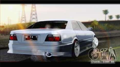 Toyota Chaser Tourer Stock v1 1999 para GTA San Andreas esquerda vista